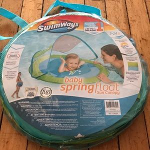 NWT swim ways baby spring float sun canopy